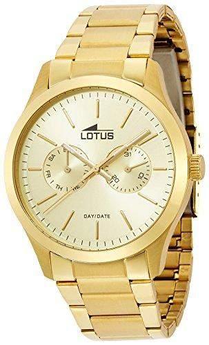 Lotus Herren-Armbanduhr XL Analog Quarz Edelstahl 159552