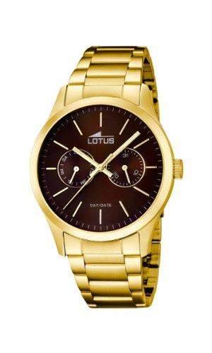 Lotus Herren-Armbanduhr XL Analog Quarz Edelstahl 159553