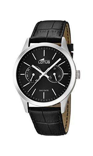 Lotus Herren-Armbanduhr XL Analog Quarz Leder 159563
