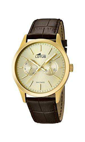Lotus Herren-Armbanduhr XL Analog Quarz Leder 159572