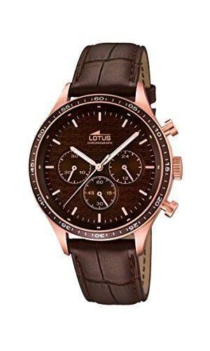 Lotus Herren-Armbanduhr Analog Quarz Leder 159662