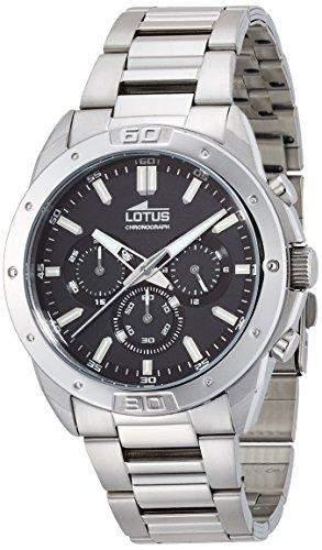 Lotus Herren-Armbanduhr Analog Quarz Edelstahl 159723