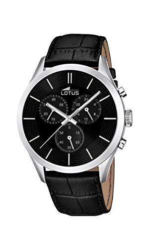 Lotus Herren-Armbanduhr Analog Quarz Leder 181192