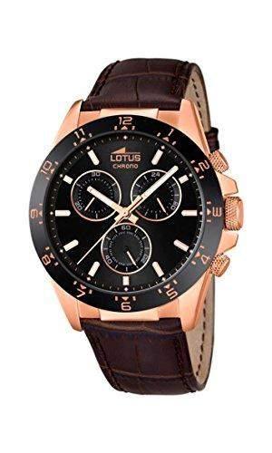 Lotus Herren-Armbanduhr Analog Quarz Leder 181585