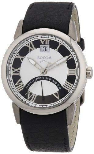 Boccia Herren-Armbanduhr Leder 3531-06