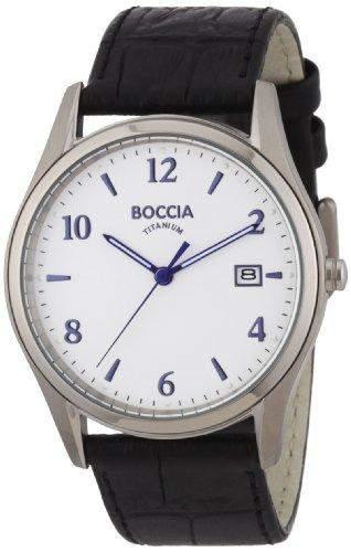 Boccia Herren-Armbanduhr XL Analog Leder 3562-01