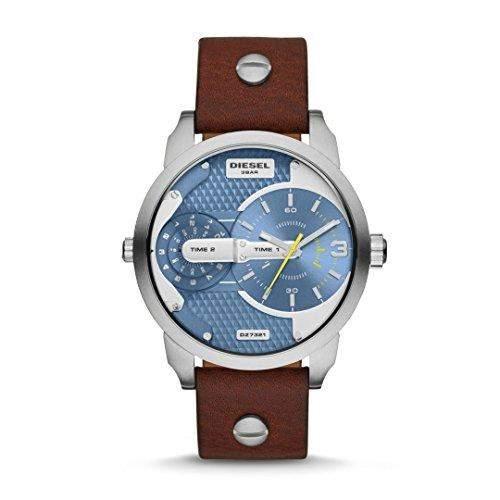 Diesel Herren-Armbanduhr Analog Quarz Leder DZ7321