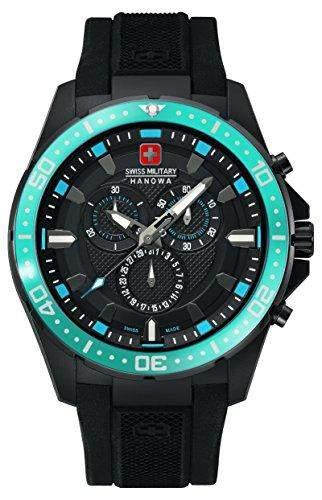 Swiss Military Hanowa Herren-Armbanduhr XL Analog Quarz Plastik 06-42122700703