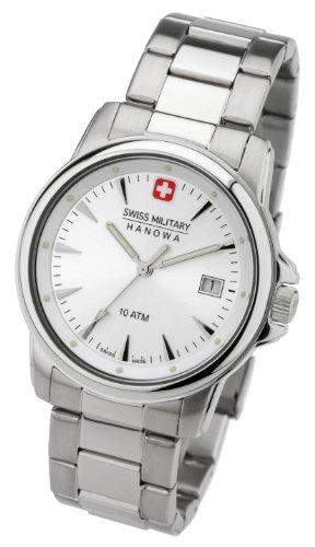 Swiss Military Hanowa Herren-Armbanduhr XL Analog Quarz Edelstahl 06-504404001