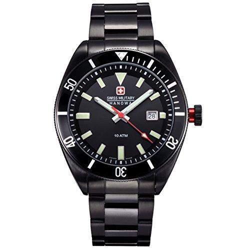 Swiss Military Hanowa Herren-Armbanduhr XL Analog Quarz Edelstahl beschichtet 06-521413007