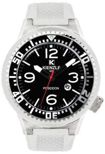 Kienzle Herren-Armbanduhr Poseidon eXtra Large Analog Silikon weiss 7203046