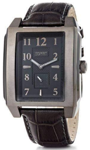 Esprit Herren-Armbanduhr Analog Quarz Leder AES102821003