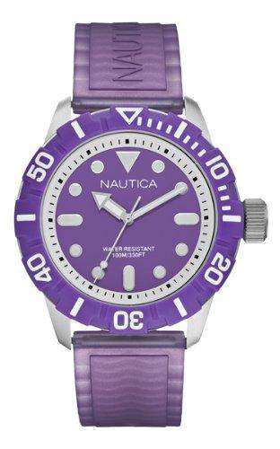 Nautica Herren-Armbanduhr Analog Quarz Silikon A09606G