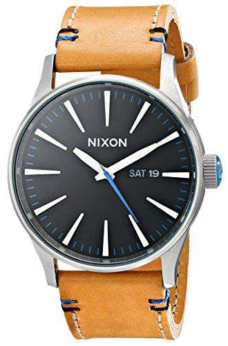 Nixon Mens Sentry Leather Analog Watch, Color: OS