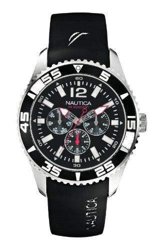 Nautica Herren-Armbanduhr XL Analog Quarz Resin A12022G