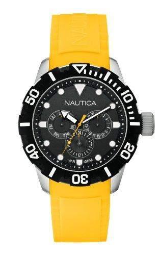 Nautica Unisex-Armbanduhr Analog Quarz Kautschuk A13644G