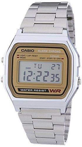 Casio Herren Armbanduhr Digital Quarz Edelstahl A158Wea-9Ef