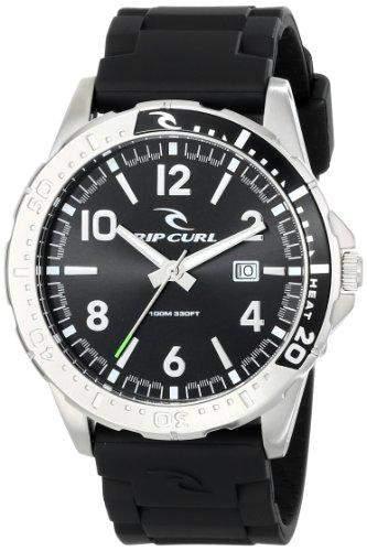 Rip Curl Herren A2711 - BLK RAGLAN PU - BLACK Analog Display Quartz Black Armbanduhr
