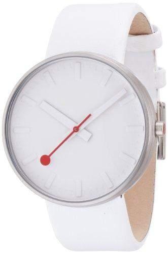 MONDAINE Herren-Armbanduhr Mondaine Giant White dial on white strap Analog Leder Weiss A6603032816SBN