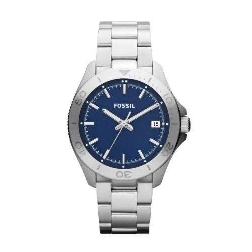 Fossil Herren-Armbanduhr XL Analog Quarz Edelstahl AM4442