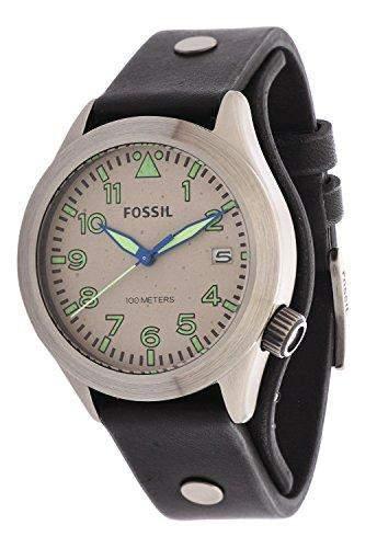 Fossil Herren-Armbanduhr Analog Quarz Leder AM4552