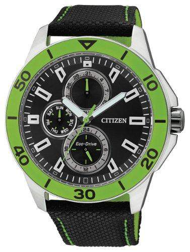 Citizen Herren-Armbanduhr XL Analog Quarz Textil AP4030-06E
