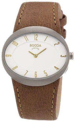 Boccia Damen-Armbanduhr Mit Lederarmband Trend 3165-01