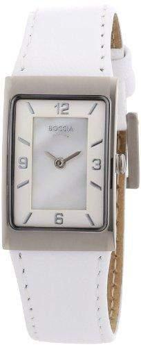 Boccia Damen-Armbanduhr Mit Lederarmband Style 3186-01