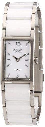 Boccia Damen-Armbanduhr Ceramic Analog verschiedene Materialien 3201-01