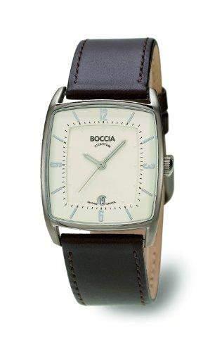Boccia Herren-Armbanduhr Analog Leder braun B3532-02