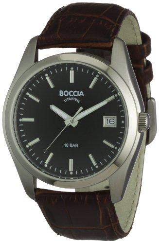 Boccia Herren-Armbanduhr Mit Lederarmband Trend 3548-02