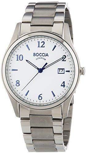 Boccia Herren-Armbanduhr XL Titanium Analog Quarz Titan 3562-04