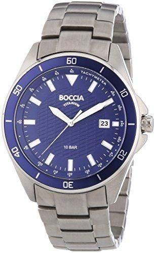 Boccia Herren-Armbanduhr XL Analog Quarz Titan 3577-02