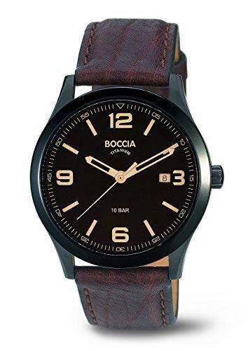 Boccia Herren-Armbanduhr XL Analog Quarz Leder 3583-02