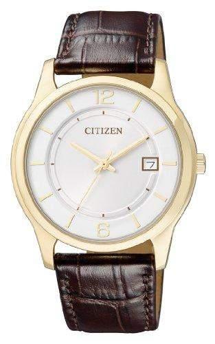 Citizen Herren-Armbanduhr Analog Quarz Edelstahl beschichtet BD0022-08A