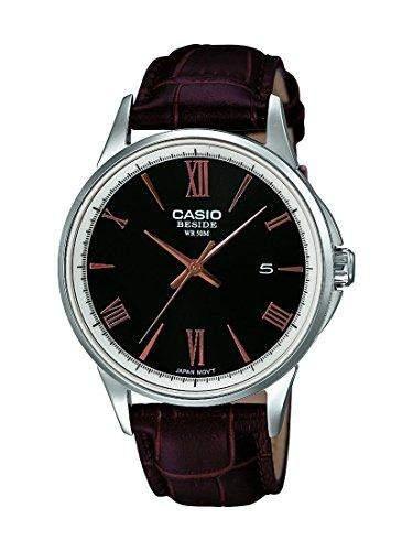 Casio BEM - 126L - 1AVEF-Collection Herren-Armbanduhr Analog Leder Schwarz