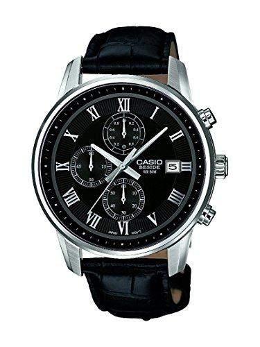 Casio Herren-Armbanduhr Analog Quarz Leder BEM-511L-1AVEF