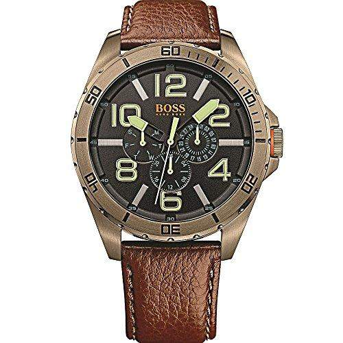 BOSS Orange Herren-Armbanduhr BERLIN Multi Analog Quarz Leder 1513166