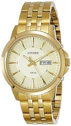 Citizen Herren-Armbanduhr Analog Quarz Edelstahl BF2013-56PE