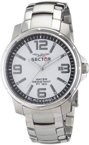 Sector Herren-Armbanduhr XL Black Eagle Analog Edelstahl R3253189001