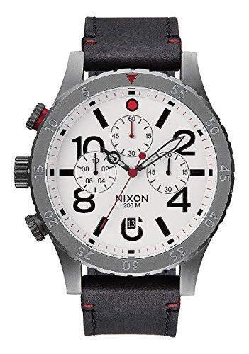 Nixon Herren-Armbanduhr XL Chronograph Quarz Leder A363486-00