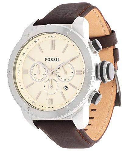 Fossil Herren Uhr Chronograph Armbanduhr Leder BQ1052