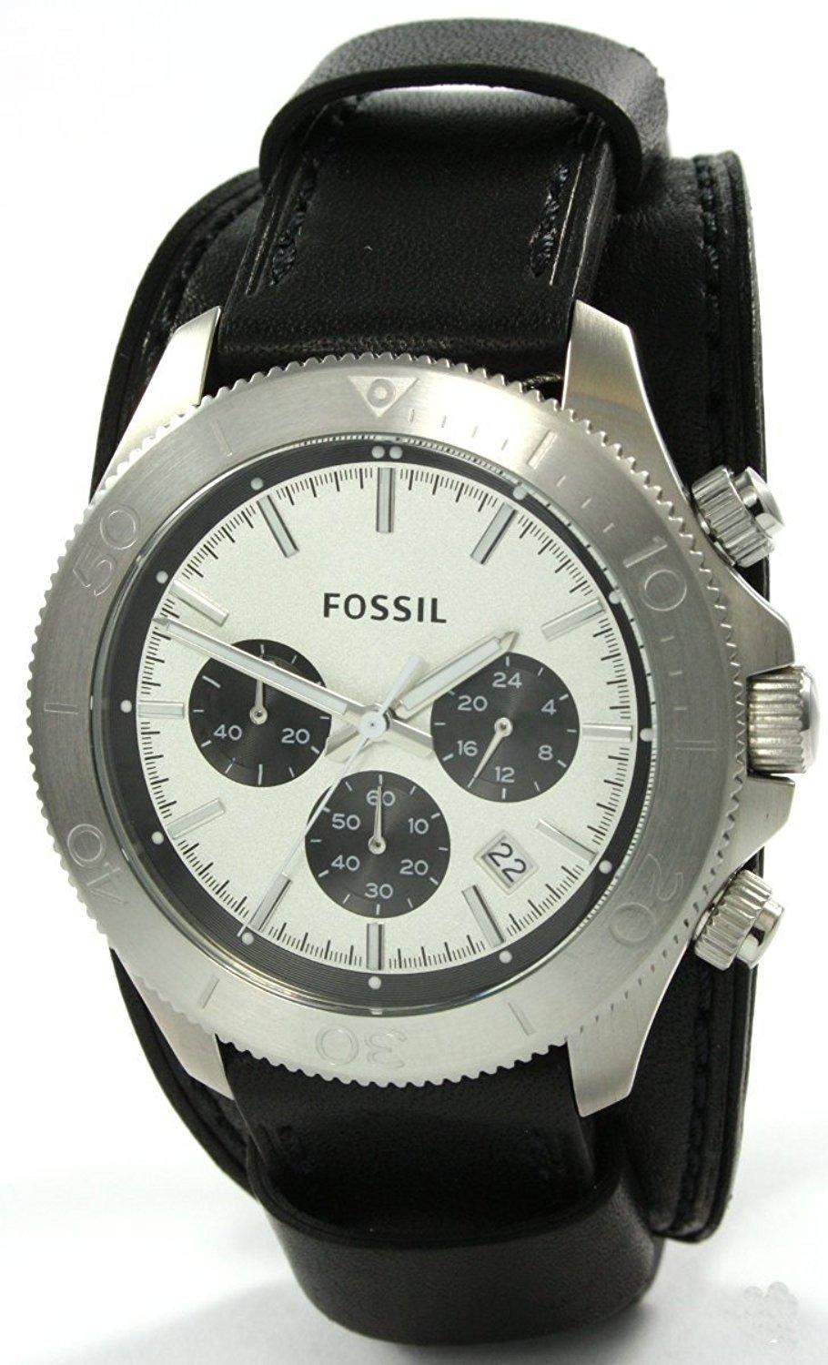 Fossil Herren-Armbanduhr XL Retro Traveler Analog Quarz Nylon CH2856