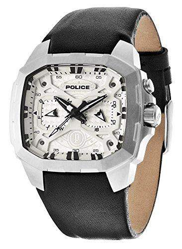 Police PL13891JSU61 Herren-Armbanduhr XL ADVENTURE Analog Quarz Leder