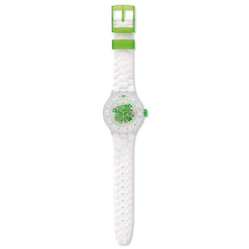 Swatch Herren-Armbanduhr XL Chlorofish Analog Quarz Kautschuk SUUK100