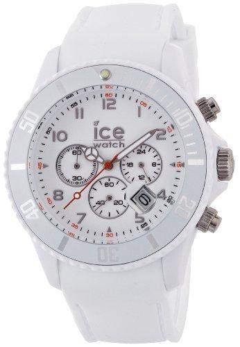 ICE-Watch Unisex-Armbanduhr IceChrono Quarz Analog Silikon Weiss CHMWEBS12