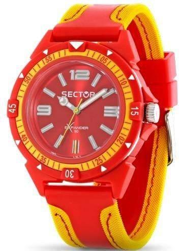 Sector Herren-Armbanduhr XL Analog Quarz Leder R3251197128