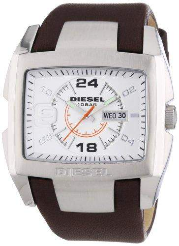 Diesel Herren-Armbanduhr Bugout Analog Quarz Leder DZ1273