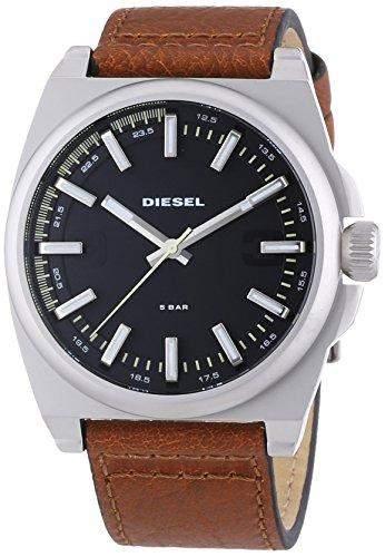 Diesel Herren-Armbanduhr XL Analog Quarz Leder DZ1611