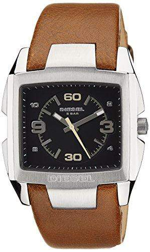 Diesel Herren-Armbanduhr XL Analog Quarz Leder DZ1628